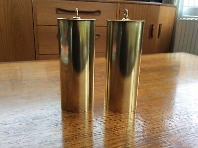 Pair Brass Cased Vienna Regulator Clock Weights
