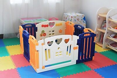 NEW! 8+2 Panels Large Foldable Baby Kids Play pens Room Divider Educational Toys