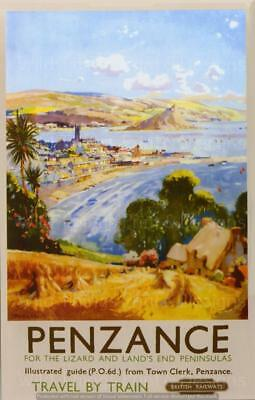 Vintage Travel/Railway,Posters,Wall Art : Penzance :- Travel By Train   ( 241 )