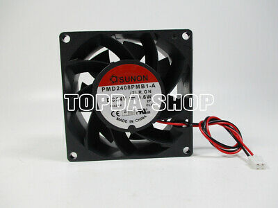 SUNON PMD2408PMB1-A INVERTER cooling fan DC24V 9 6W 80*80*38mm 2pin