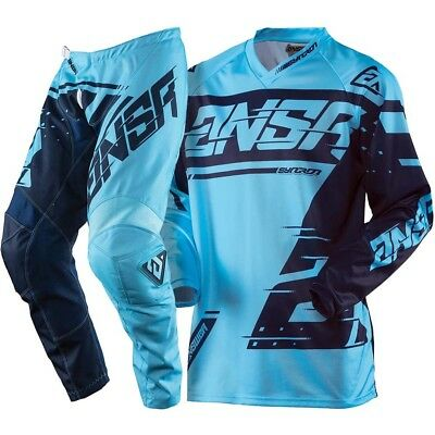 Completo Motocross Answer Syncron Blue Navy Maglia M - Pantalone 32