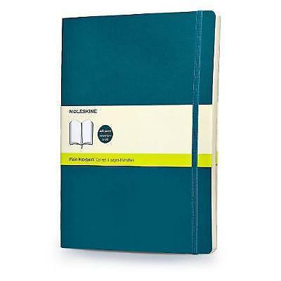 Moleskine Classic Colored Notebook, Extra Large, Plain, Underwater Blue, Soft