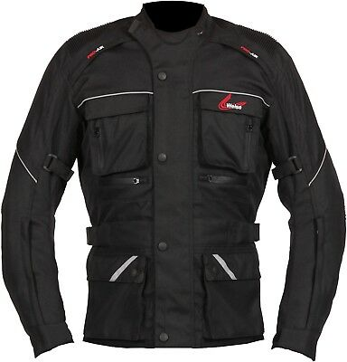Weise Zurich Mens Black Textile Waterproof Motorcycle Jacket New RRP £129.99!!