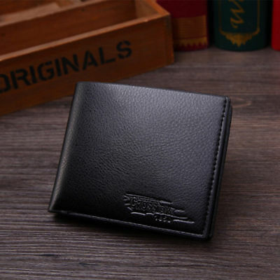 Mens Black PU Leather Rfid Blocking Bifold Wallet Credit Card Protect Anti Theft