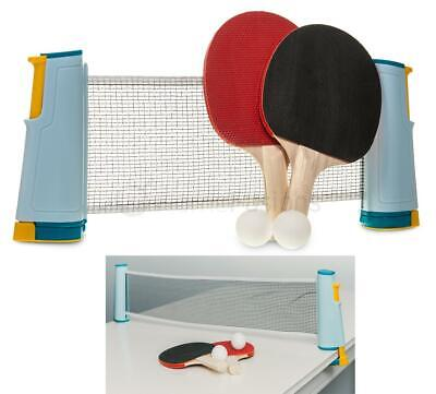 Portable Instant Table Tennis Game Ping Pong Ball Set Retractable Net Indoor Fun