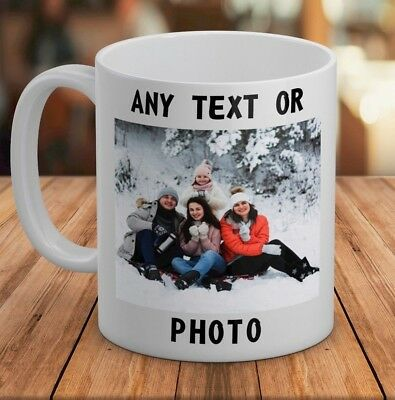 Personalised Mug Custom Image OR Text Photo Logo Cup Gift Bulk PROMOTIONAL OFFER
