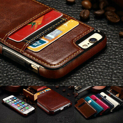Luxury Leather Card Holder Wallet Slim Back Case Cover For iPhone XS Max XR X 8