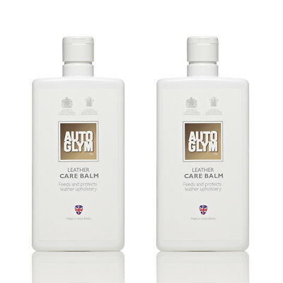 2x AutoGlym Leather Care Balm 500ml - Feeds and Protects