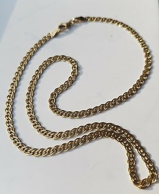 14ct MIDAS NECKLACE SOLID 14 CARATS GOLD 8.8 GRAMS 14K DOUBLE CURB