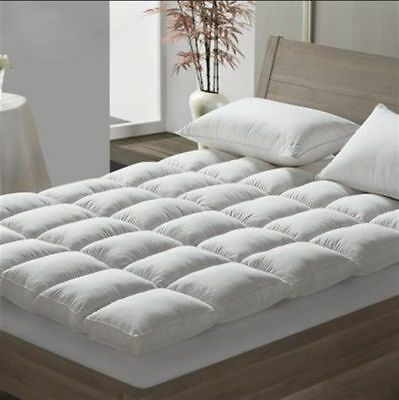 Luxury Duck Feather & Down Mattress Topper Matress Cover Double