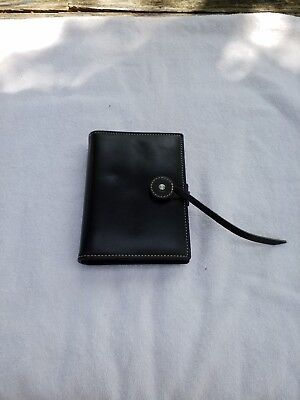 Kate Spade Leather Pocket Organizer Wallet Planner Binder Black Agenda Rare 2000