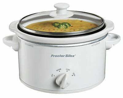 OpenBox Proctor Silex 33116Y Portable Oval Slow Cooker, 1.5-Quart