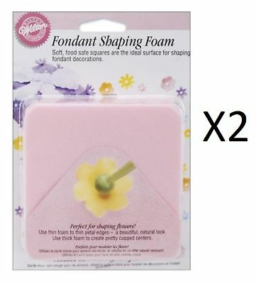 Wilton Fondant Shaping Foam Form Flowers Leaves Thick Thin 1907-9704 (2-Pack)