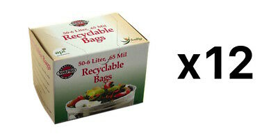 Norpro 50 Count Recyclable Bags / Compost Bags - 6 Liter, 0.65 Mil (12-Pack)