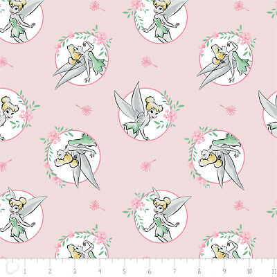 TINKER BELL PETERMAN DISNEY FLANNEL FABRIC SOLD BY THE YARD