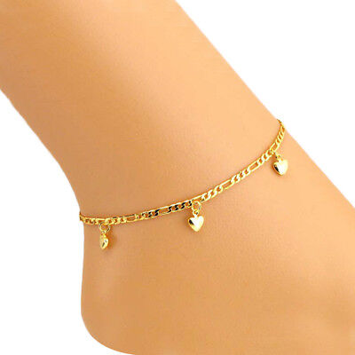 Women's Fashion Jewelry Gold Plated Heart Anklet Ankle Bracelet 65-3