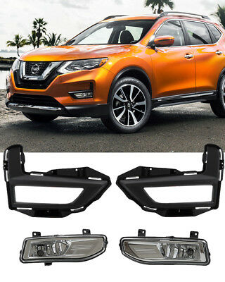 For 2017 2018 NISSAN ROGUE Fog Light Driving Lamp Kit w/ switch wiring harness