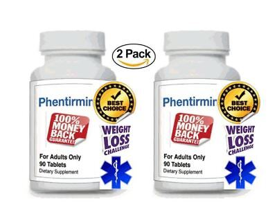 2ct Phentirmin Top Appetite Suppressant Weight Loss Diet Pills Large 90 Tabs Bot