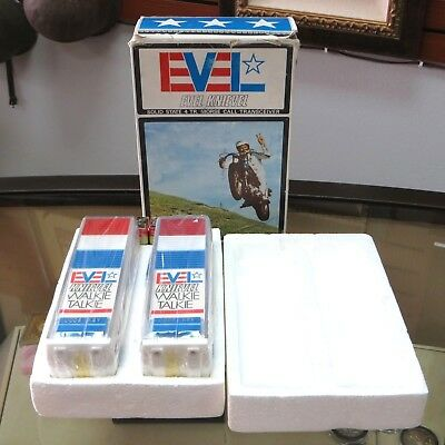 Vintage 1974 Evel Knievel (Model X600) Morse Code Toy Walkie-Talkies NEW in BOX!