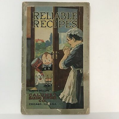 Vintage 1920's CALUMET BAKING POWDER RELIABLE RECIPES 10th Edition COOKBOOK