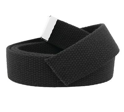 Replacement Canvas Web Belt 1.25 Military Width Silver Tip Assorted Colors