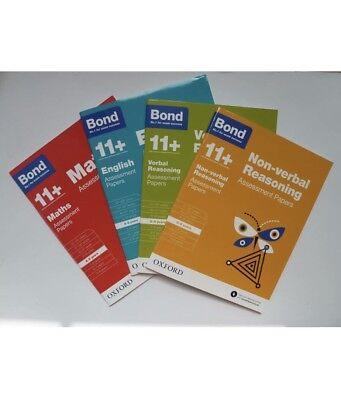 Bond 11+ English Maths Verbal Non-verbal Assessment papers aged 8-9 Years,