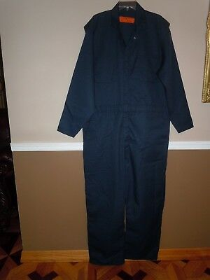 Red Kap Mens Navy Jumpsuit One Piece Coveralls Size 50-RG
