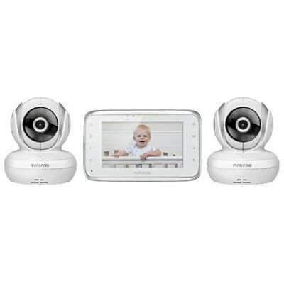 Motorola MBP38S-2 Digital Video Baby Monitor with 4.3-Inch Color LCD Screen NEW