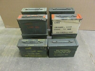 Grade 2 10 Pack 30 Cal Ammo Can Box Army Military M19A1 Metal Storage 7.62 MM