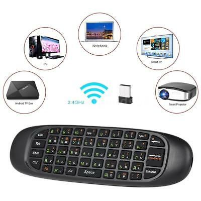 2.4Ghz Air Mouse Wireless Tastatur Fernbedienung für Smart Android TV BOX Laptop