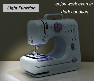 New Electric Household Multifunction Sewing Machine Side Whipstitch Wth Pedals