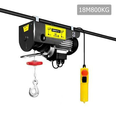 Garage Shed Electric Hoist Winch 400/800KG 1300W 18m Rope 240V Lifting Equipment