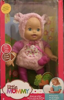 Little Mommy Dress Up Cutie Bunny Doll BPA free SEALED in worn box free shpg