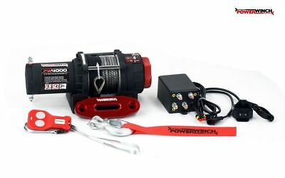 Powerwinch Argano Verricello Elettrico 12V Telecomando Wireless Pw3500Sr