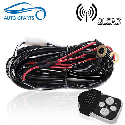 Remote Control Wiring Harness Kit Switch Relay Led Light Bar 1 Lead 40A 12V Car