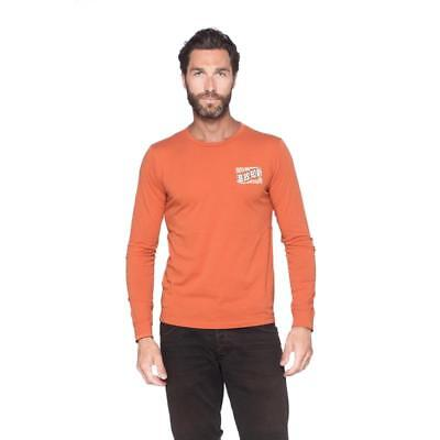 Faster Sons Kanji T-Shirt Long Sleeve Genuine Yamaha Apparel Rust / Orange