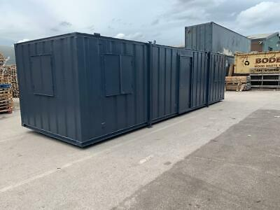 32ft x 10ft Anti Vandal Office / Canteen Container painted SECURE WATERPROOF