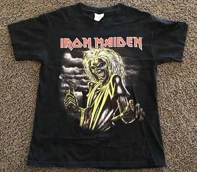 Iron Maiden Killers World Tour 1981 T-Shirt Youth Size LARGE L