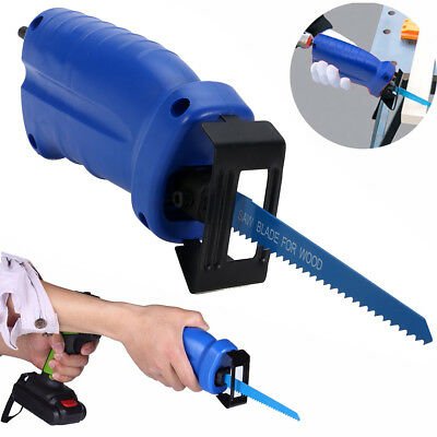 Reciprocating Saw Convert Adapter Attachment Wood Cut For Cordless Power Drill