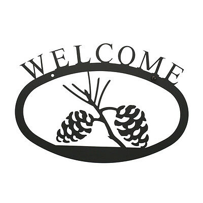 Pinecone Welcome Sign Small