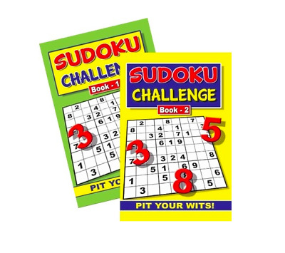 2 x A5 Size Sudoku Challenge Puzzle Books Travel Grown-Ups Adult Book UK