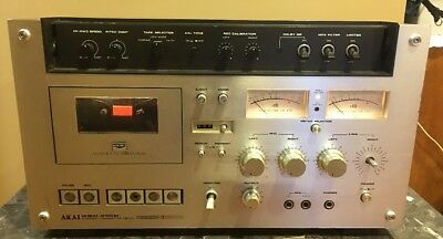 AKAI GXC-570D Stereo Cassette Deck  ** FOR PARTS OR REPAIR**