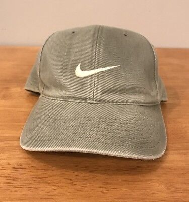 VTG 90 S NIKE AIR SWOOSH Baseball Cap Hat Dad Hat Hunter Green RARE ... f7826f818863