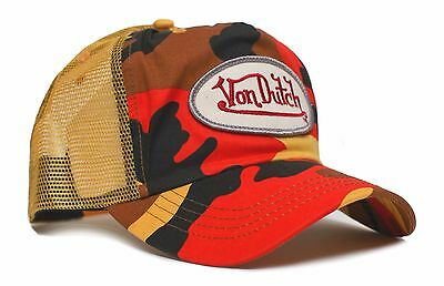 Von Dutch Originals Tange Camo Truckers Cap Hat Snapback