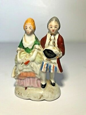 """Vintage victorian figurine porcelain 7"""" made in occupied Japan collectable mini"""