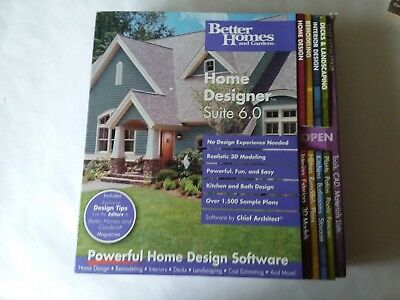 Better Homes And Gardens Home Designer Suite Lot 6.0 Software 2003 With  Tutorial