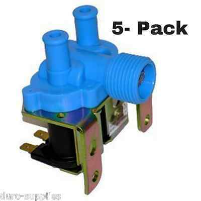 5-Pack Water Inlet Valve for Dexter Washers - 110V 2 Way - Part #  9379-183-001