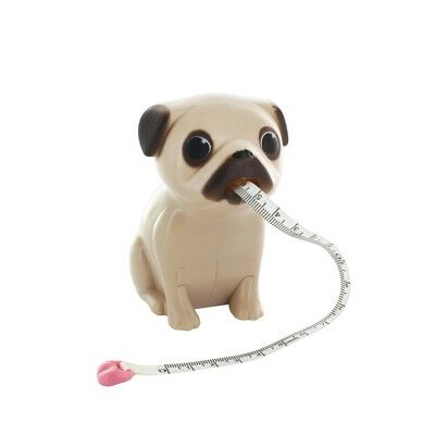 Pug Desk Accessories - Tape Measure and Pen Holder with Bone Shaped Pen