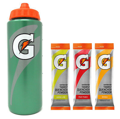 Gatorade Water Bottle - 20oz, Powder Variety - Lemon Lime, Fruit Punch, Orange