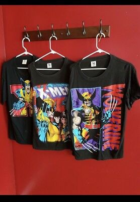 Lot Of 3 Vintage 1993 Marvel Comics X-Men Wolverine Men's Sz LARGE t Shirt Rare